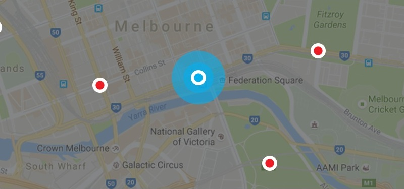Melbourne Painters Location Map