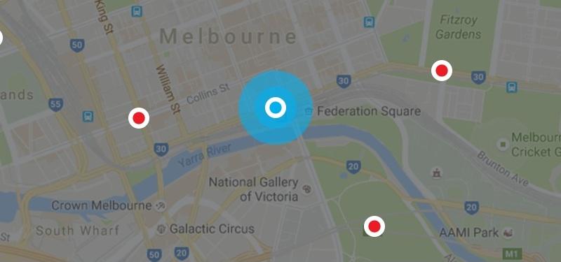 Melbourne Painters Location Map